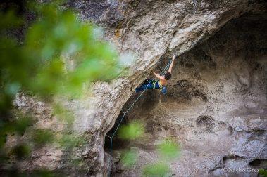 Climbing in Boffi, France - Copyright: Nacho Grez