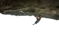 Siebe climbing in Massone