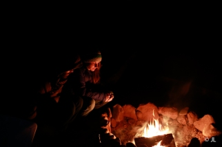 Chatting around the fire