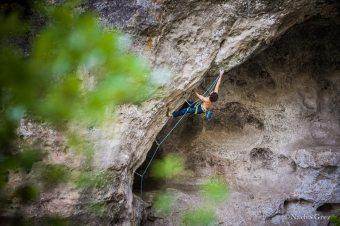 Climbing in Boffi during the Natural Games; credits: Nacho Grez