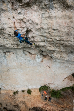 Climbing in Boffi during the Natural Games; credits: Jocelyn Chavy