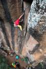 My first approach to crack climbing, back in la Reunion. Credits: Riky Felderer/The North Face