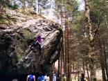 One of the easiest boulders for the men, but definitely also one of the best