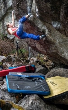 Babsi on another super pump traverse